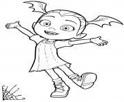 la vampire fille vamapirina est heureuse dessin à colorier