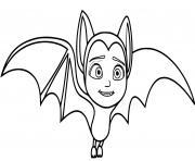 vampirina chauve souris dessin à colorier