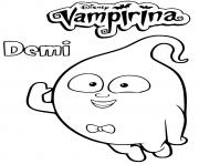 fantome Demi de vampirina disney dessin à colorier
