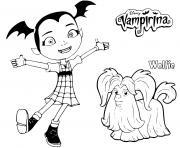 vampirina avec son chien wolfie dessin à colorier