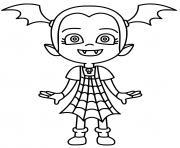 vampirina avec une robe en toile araignee dessin à colorier