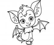 chauve souris veve vampirina dessin à colorier