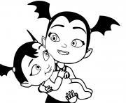 vampirina avec un bebe dessin à colorier