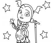 vampirina chanteuse et guitariste dessin à colorier