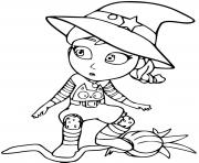 vampirina en sorciere magie dessin à colorier