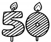 50 ans dessin à colorier
