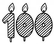 100 ans dessin à colorier