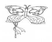 masque papillon mardi gras dessin à colorier