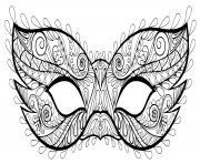 masque carnaval mystere dessin à colorier