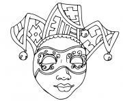 carnaval mardi gras dessin à colorier