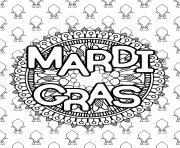 mandala mardi gras carnaval dessin à colorier