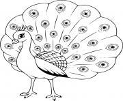 paon pour enfant oiseau dessin à colorier