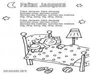 frere jacques frere jacques dormez vous comptine berceuse avec paroles dessin à colorier