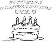 joyeux anniversaire papi papy dessin à colorier