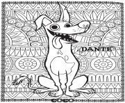 disney coco dante fond mandala adulte dessin à colorier