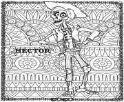 hector fond mandala disney coco dessin à colorier