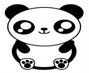 kawaii panda dessin à colorier