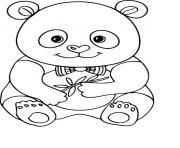 adorable panda mignon bebe dessin à colorier