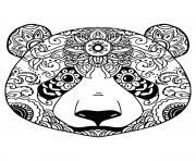 tete de panda pour adulte relaxation mandala dessin à colorier