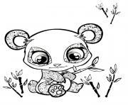 cute panda animaux mignon dessin à colorier