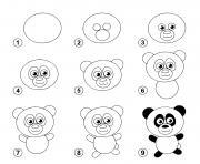 dessin facile un panda dessin à colorier
