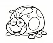coccinelle rigolote drole dessin à colorier