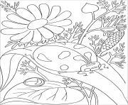 coccinelle sur feuille dessin à colorier