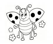 jolie insecte coccinelle maternelle facile dessin à colorier