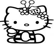 coccinelle hello kitty dessin à colorier