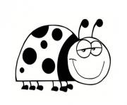 Coloriage adorable coccinelle