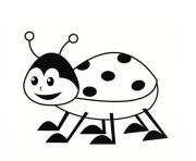 coccinelle pour enfants maternelle dessin à colorier