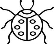 petit insecte coccinelle rouge dessin à colorier