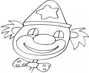 clown avec un sourire pour amuser les enfants dessin à colorier