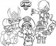brawl stars force starr nouveau brawler et nouveaux skins dessin à colorier