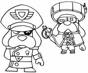 brawl stars force starr colonel medor et medor ronin dessin à colorier