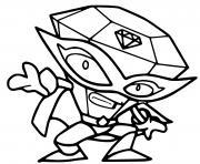 superzings star team 006 wondershine dessin à colorier