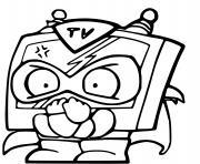 superzings star team tv tron dessin à colorier