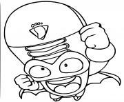 superzings cool troop 060 stomper dessin à colorier