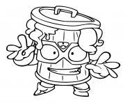 superzings max stink dessin à colorier