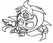 superzings mutant bandits 053 spice bandit dessin à colorier