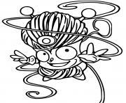 superzings tangle boy dessin à colorier
