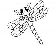 libellule facile maternelle dessin à colorier