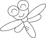 libellule maternelle dessin à colorier