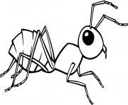 Coloriage fourmi avec feuille dans la nature dessin