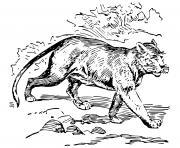 puma puissant animal rapide dessin à colorier