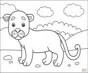 puma cougar panthere lion de montagne dessin à colorier