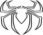 araignee spiderman logo dessin à colorier