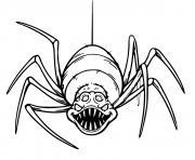 araignee terrifiante qui fait tres peur dessin à colorier