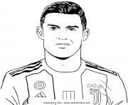 Cristiano Ronaldo 7 Juventus Italie dessin à colorier