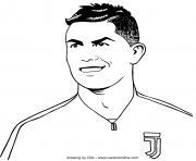 Cristiano Ronaldo joueur de foot confiant dessin à colorier